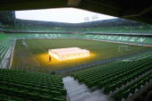 A glass house of lamps stands on the field of the Euroborg stadium in Groningen home of the Dutch first division soccer club FC Groningen 21 December...