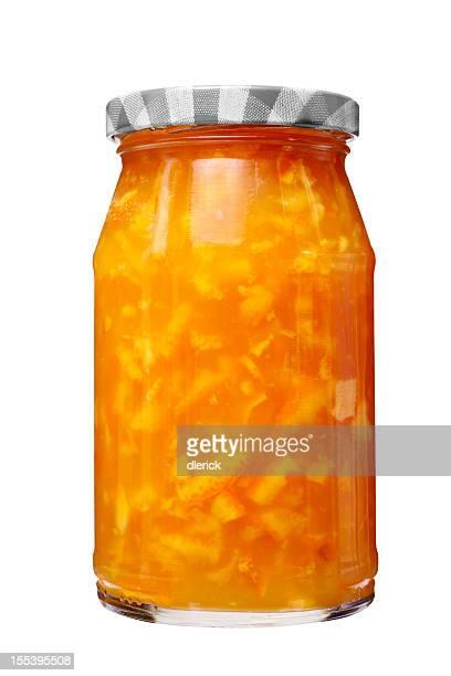 Glass Jar of Orange Marmalade