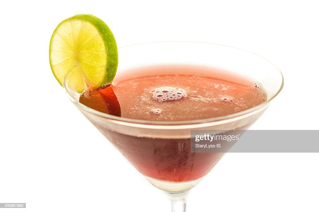 Glass of alcogolic cocktail : Stock Photo