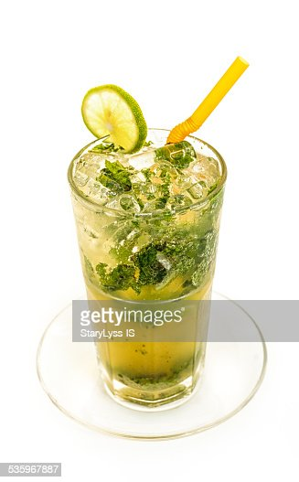 Glass of alcogolic cocktail : Stock Photo
