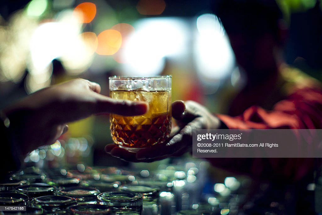 Glass of alcohol : Stock Photo