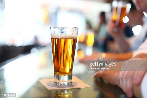 Glass of Beer At Bar