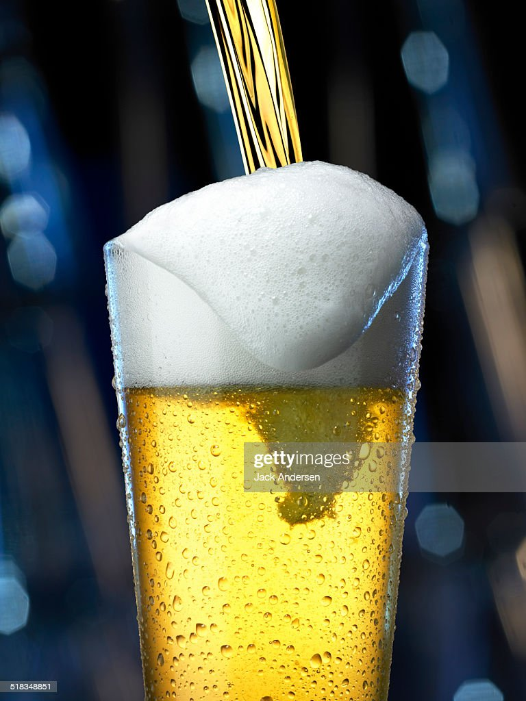 Glass of Beer with a Pour