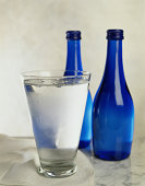 Glass of Bottled Water