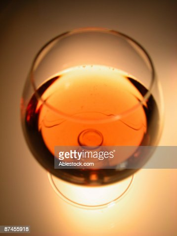 Glass of brandy : Stock Photo