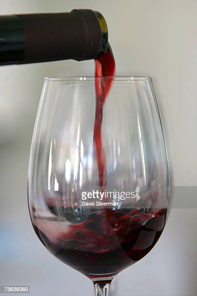 A glass of Cabernet Sauvignon is poured ahead of a tasting session as more than 250 wines from some 60 Israeli wineries compete for coveted awards to...