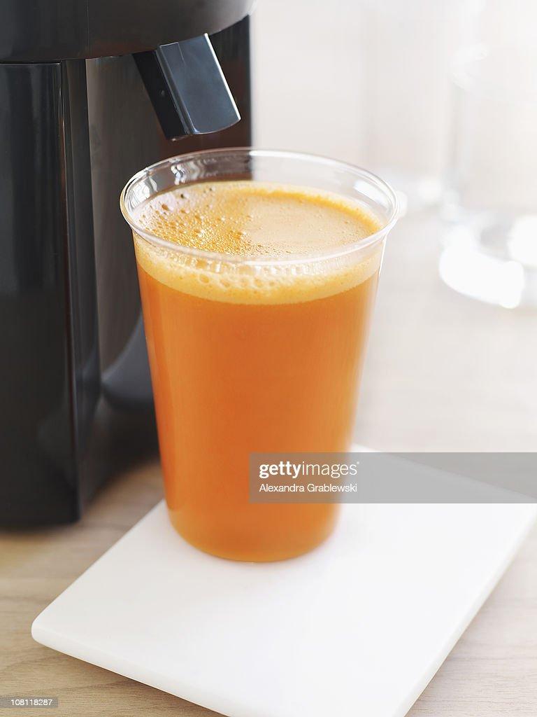 Glass of Carrot Juice : Stock Photo
