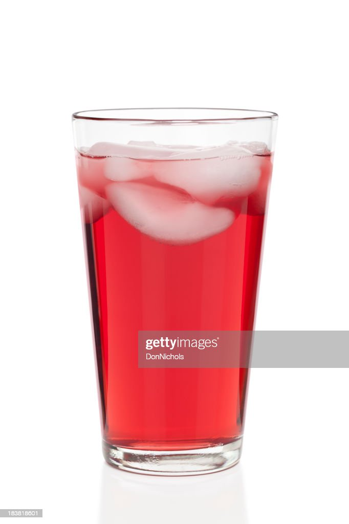 Glass of Cranberry Juice Isolated