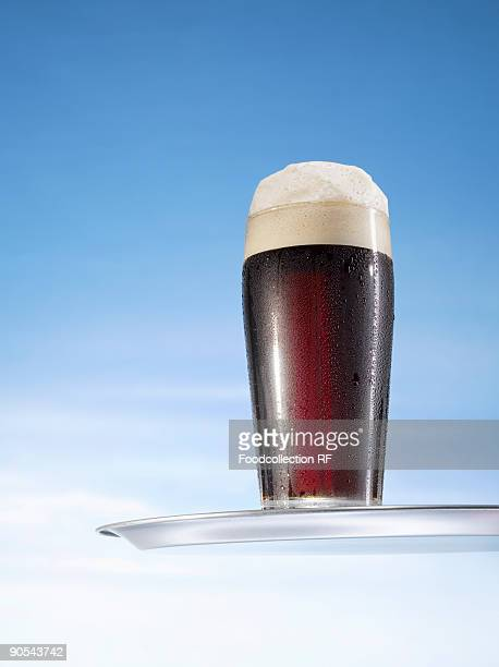 Glass of Guinness, close up