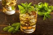 Homemade Gourmet Fresh Mint Julep Alcoholic Cocktail