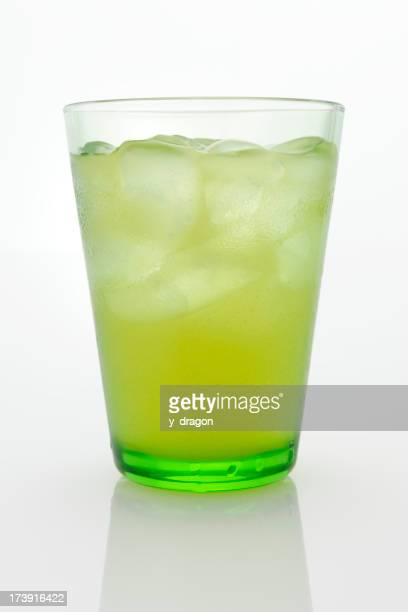 Glass of ice green tea