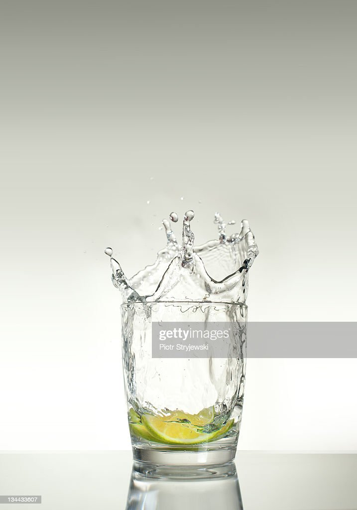glass of lemon : Stock Photo