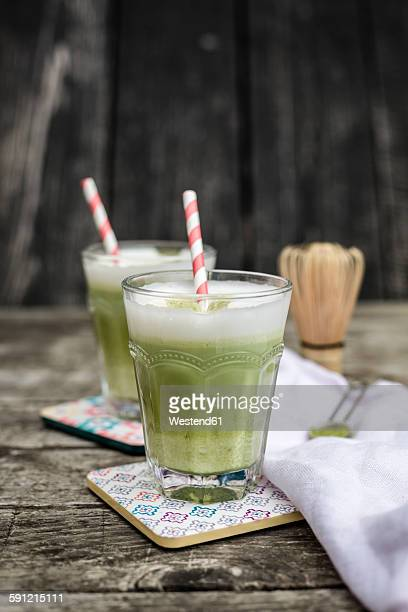 Glass of Matcha Latte