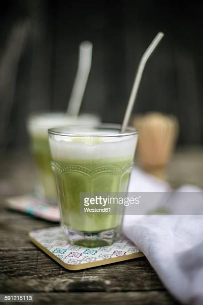 Glass of Matcha Latte