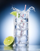 Glass of Mineral Water with Lime
