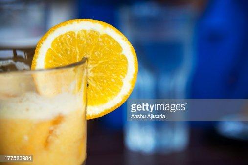 Glass of orange juice : Stock Photo