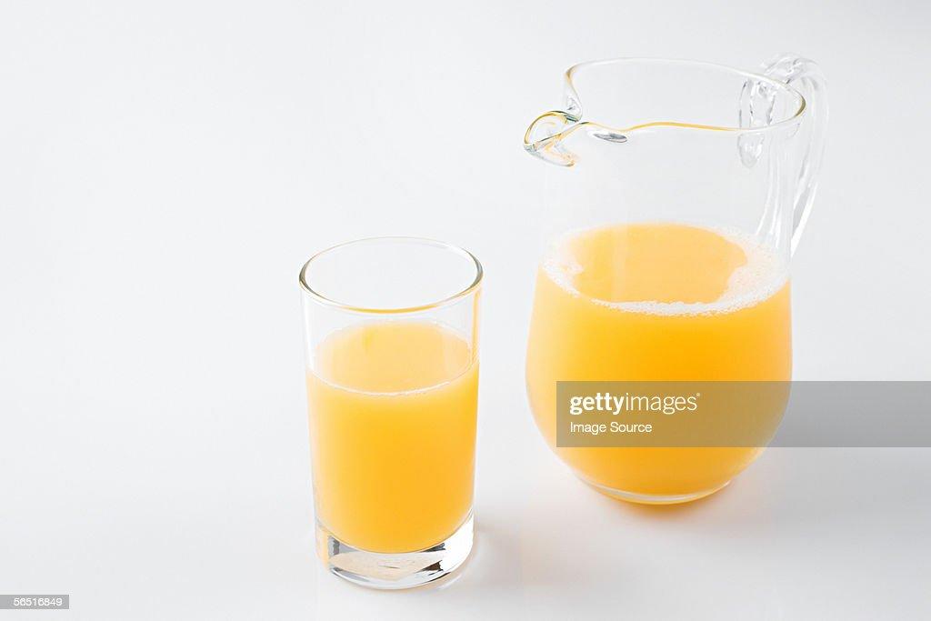 A glass of orange juice : Stock Photo