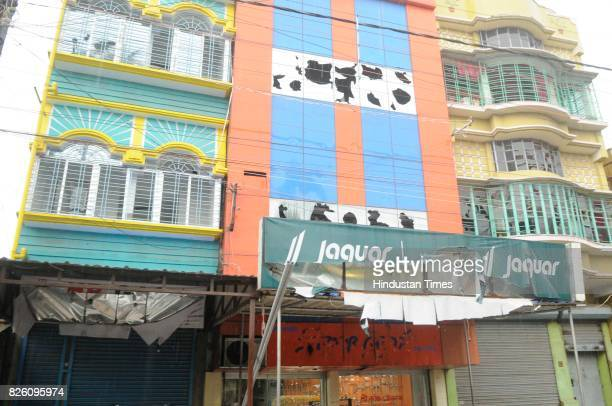 Glass of shops broken during the communal clashes which happened a month ago on August 3 2017 in Basirhat India The teens social media post triggered...