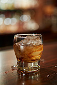 glass of southern bourbon whiskey