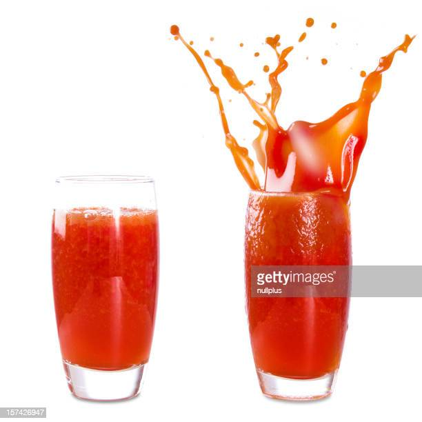 glass of tomato juice (isolated)