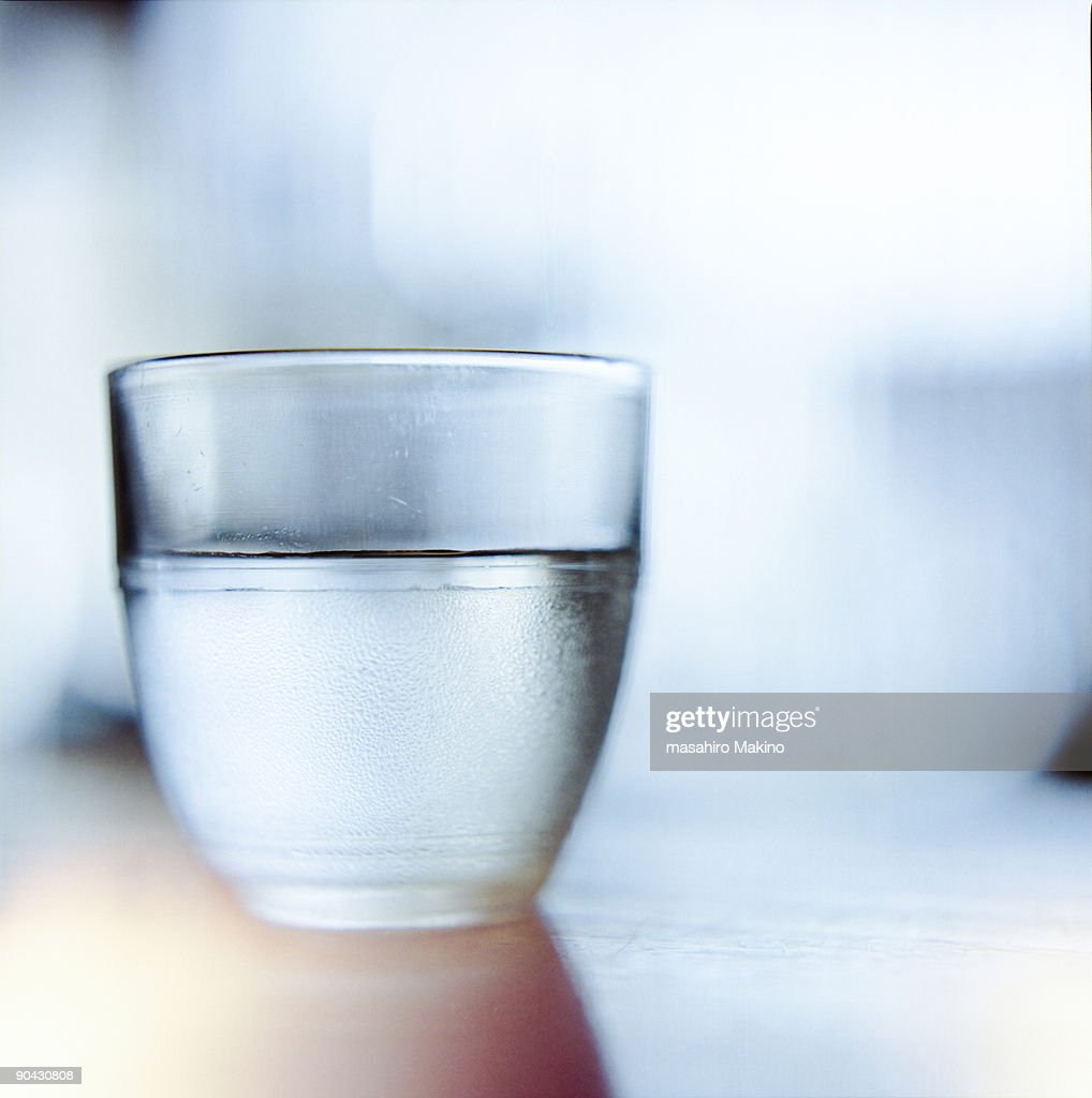 A glass of water : Stock Photo