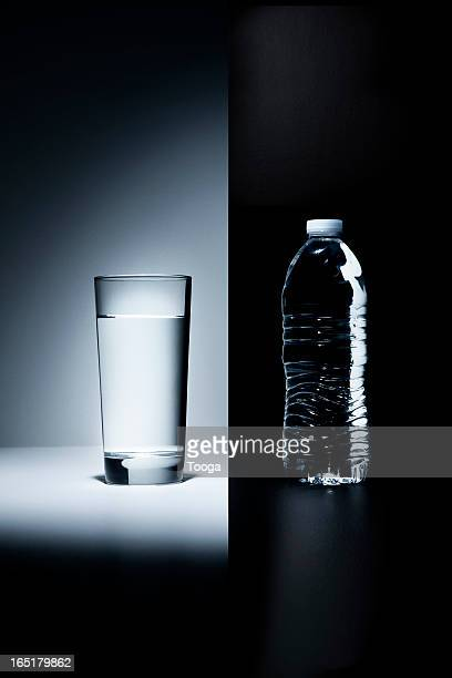 Glass of water vs. plastic water bottle
