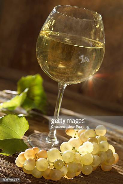 glass of white Bourgogne wine