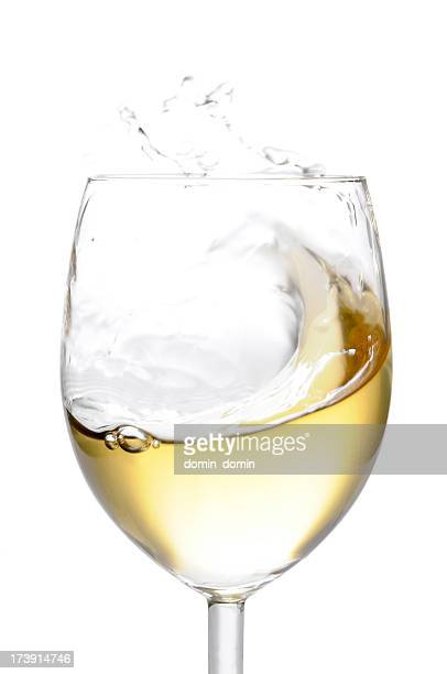 Glass of white wine, isolated