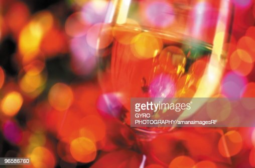 Glass of wine, close up, defocused : Stock Photo