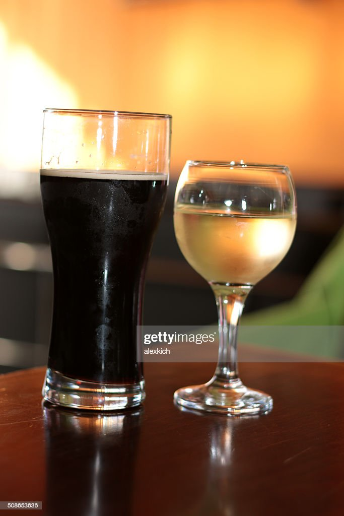 glass of wine on the table : Stock Photo