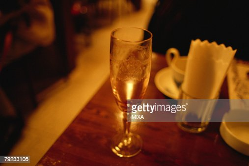 Glass on a table : Stock Photo