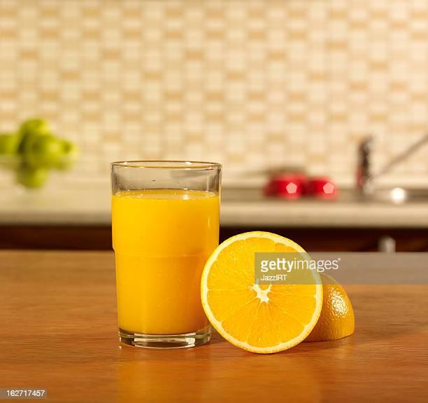 Glass orange juice kitchen