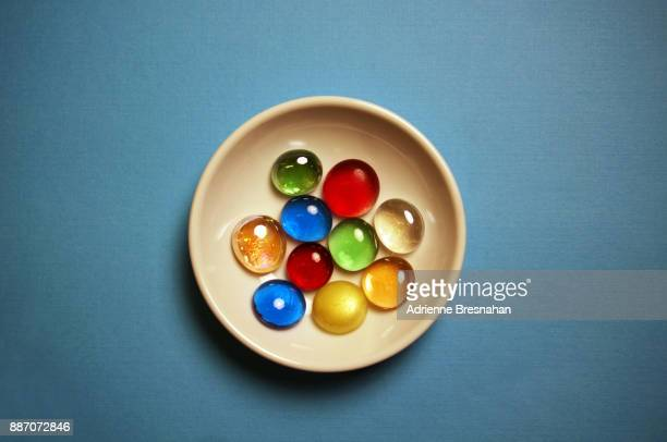 Glass Pebbles on a Small Plate