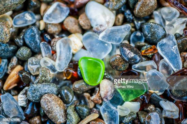Glass Pebbles on Glass Beach