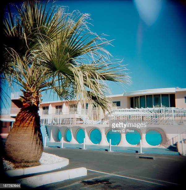 Piscine vitrée Inn Motel Las Vegas, dans le Nevada, Holga, rétro, Square
