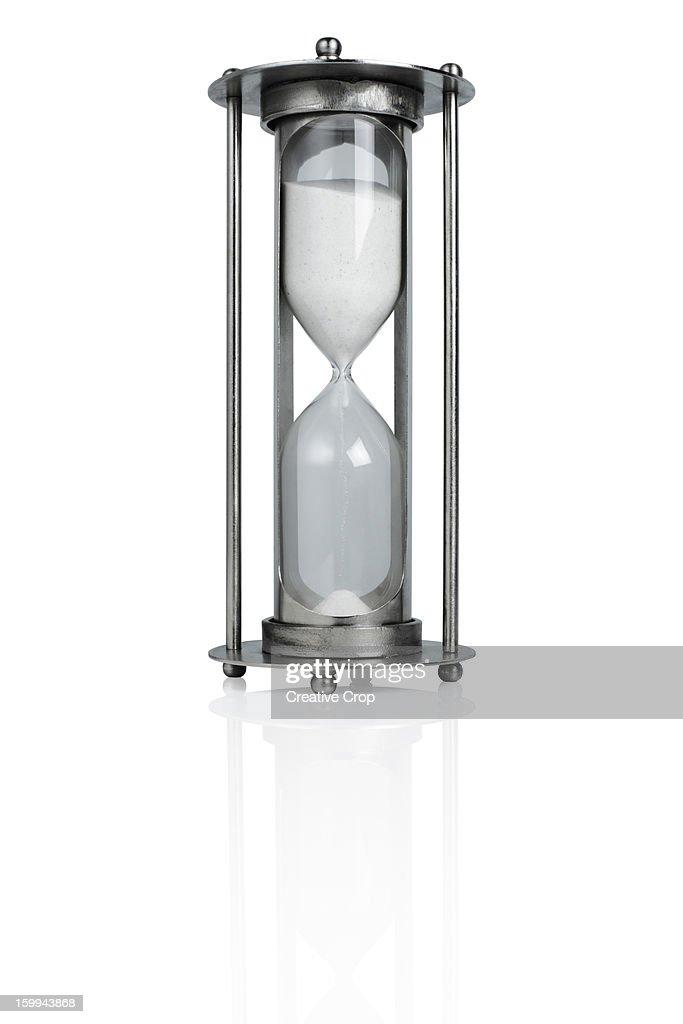 Glass sand hour glass / egg timer : Stock Photo
