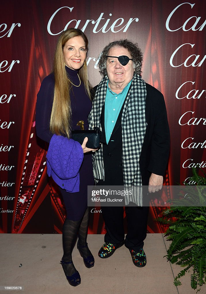 Glass Sculptor Dale Chihuly (R) arrives at the 24th annual Palm Springs International Film Festival Awards Gala at the Palm Springs Convention Center on January 5, 2013 in Palm Springs, California.