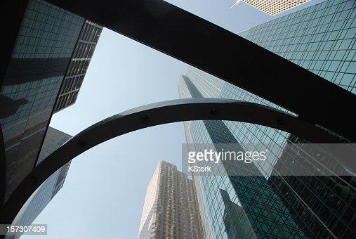 Grattacieli nel distretto finanziario di Houston