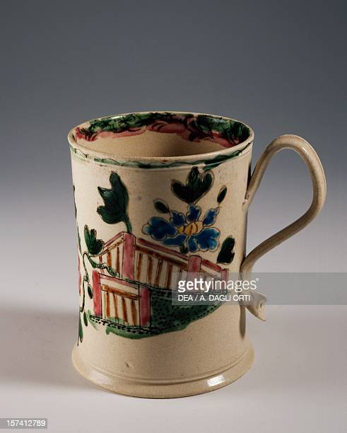 Glass with orientalinspired decoration ca 1780 ceramic Staffordshire manufacture England 18th century