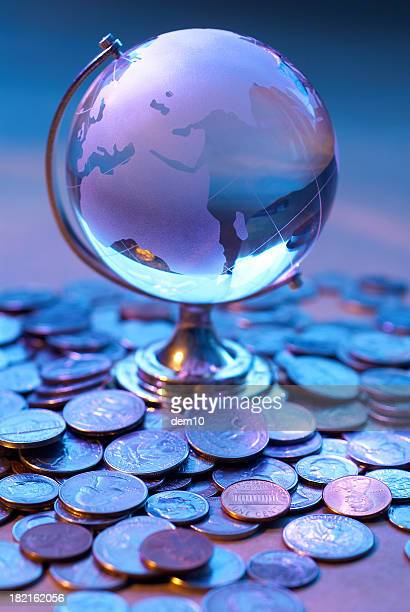 Glass World and coin
