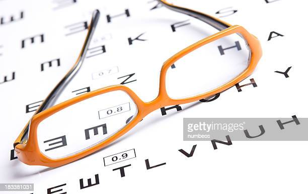 Glasses and eyechart