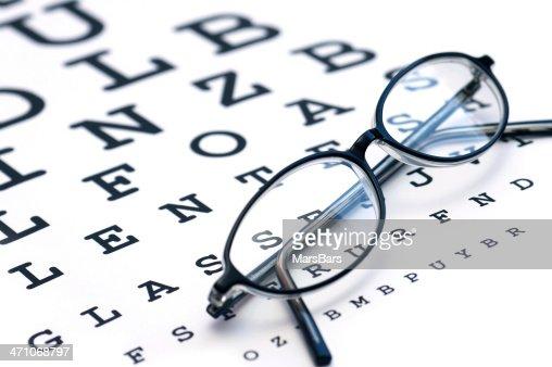 Gläser und eyechart