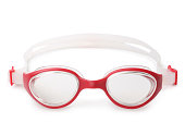 Glasses for swimming on white background