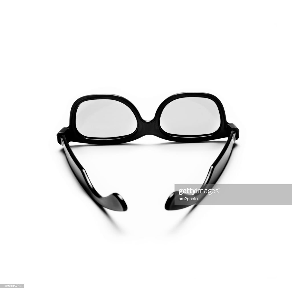 3D glasses in white background : Stock Photo