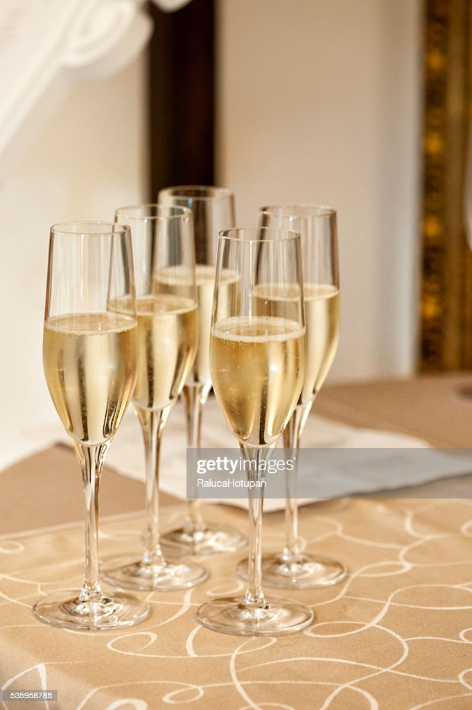 glasses of champagne : Stock Photo