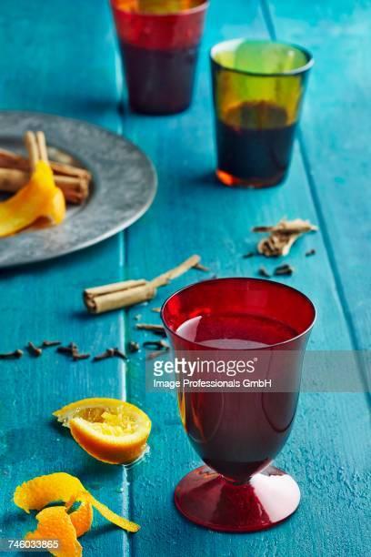 Glasses of spiced tea