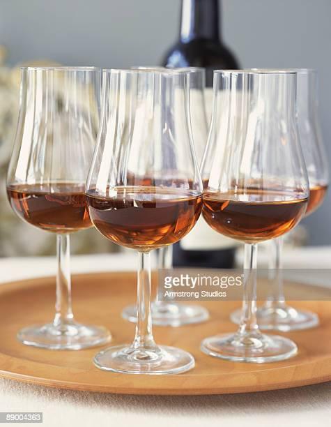 Glasses of Tawny Port
