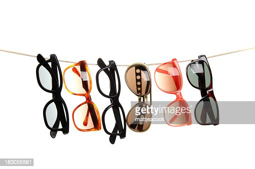 Glasses on a line