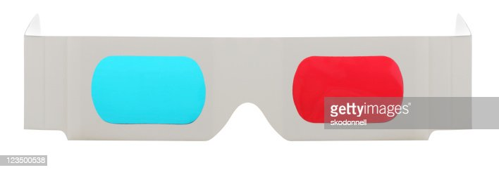 3-D Glasses on a White Background