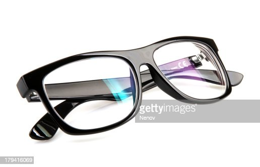 Glasses on isolated white background